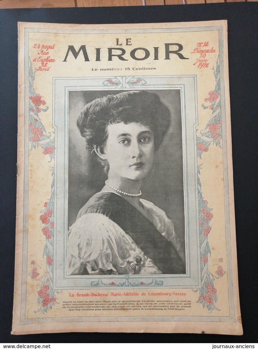 1912 LA GRANDE DUCHESSE MARIE ADÉLAÏDE DE LUXEMBOURG = NASSAU - Vieux Papiers