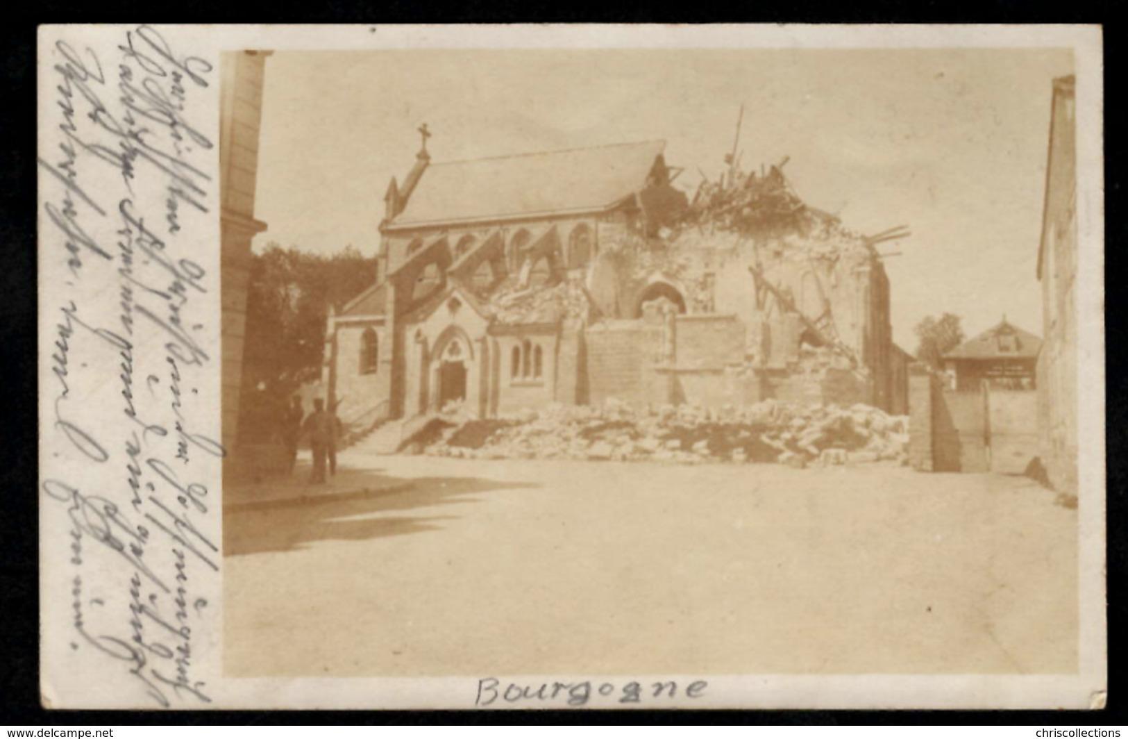 51 - BOURGOGNE - Eglise - Carte Photo - Autres Communes