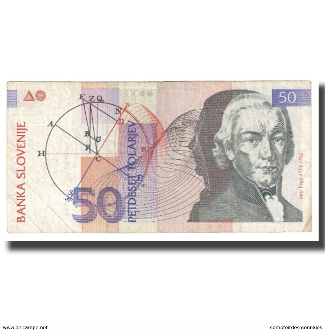 Billet, Slovénie, 50 Tolarjev, 1992, 1992-01-15, KM:13a, TB - Slovénie