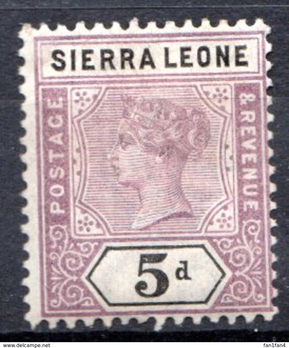 SIERRA LEONE - (Colonie Britannique) - 1897-98 - N° 38 - 5 P. Violet-brun Et Noir - (Victoria) - Sierra Leone (...-1960)