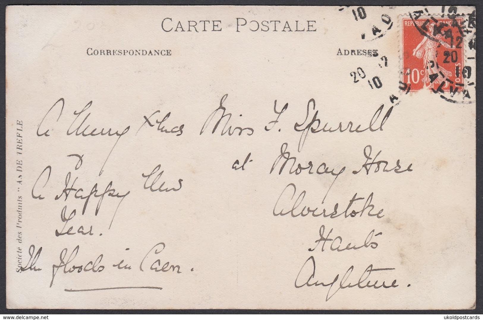 CPA 14 -  CAEN, Inondations, Carte Photo, 1910. - Caen