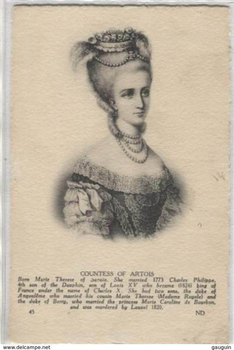 CPA - COMTESSE D'ARTOIS - Portrait - Edition ND. - Famous Ladies