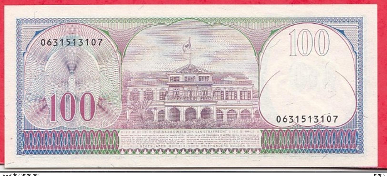 Surinam 1 Billet De  100 Gulden Du 01/11/1985 Dans L 'état Lot N °12 - Surinam