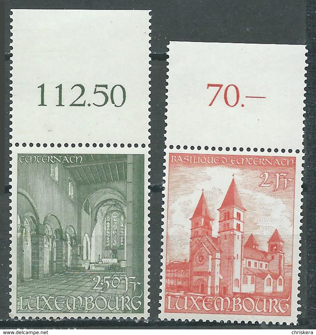 Luxembourg YT N°473/474 Basilique D'Echternach Neuf ** - Luxemburg