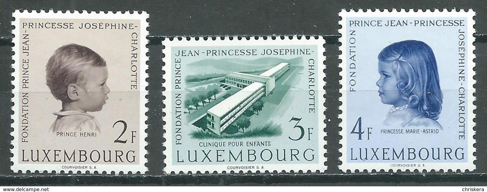 Luxembourg YT N°528/530 Clinique Pour Enfants Neuf ** - Luxemburg