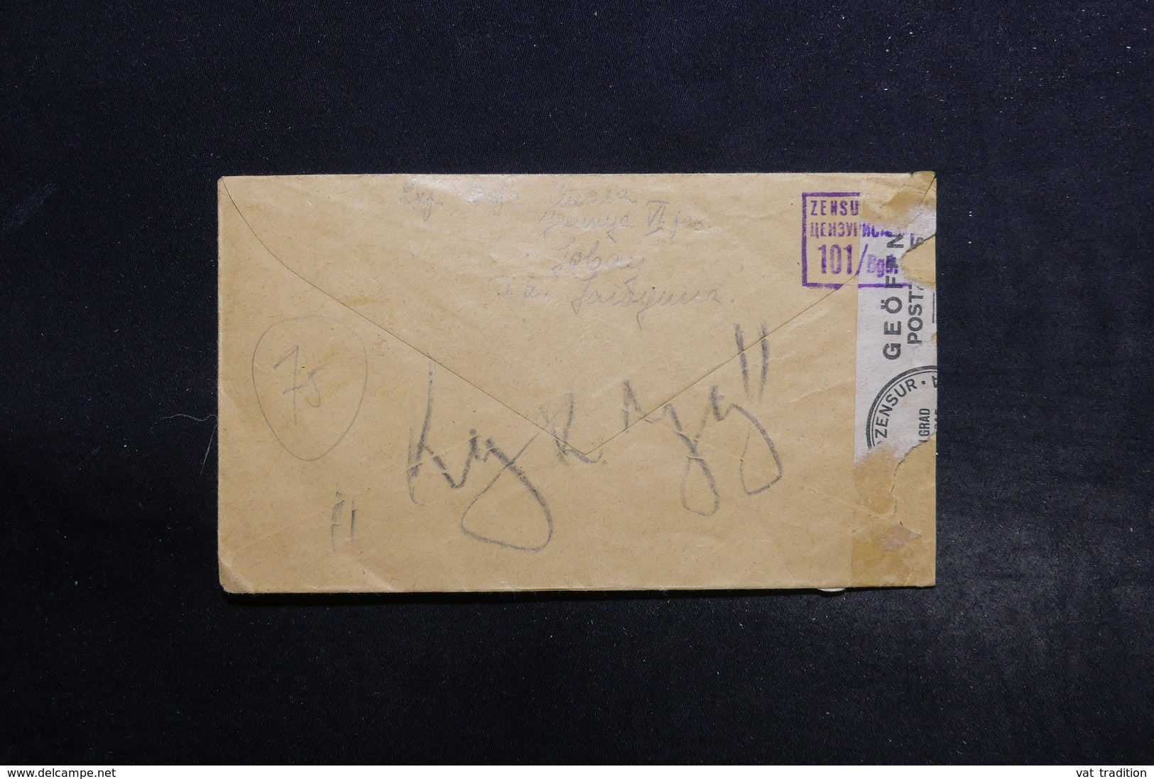 SERBIE - Enveloppe En Recommandé De Kupridja En 1943 Avec Contrôle Postal - L 28485 - Serbie