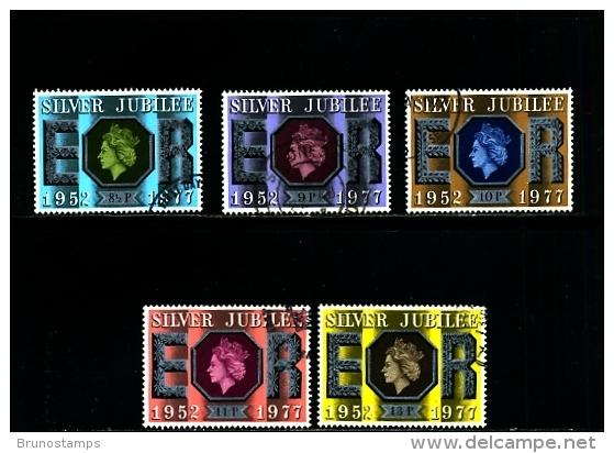 GREAT BRITAIN - 1977  SILVER  JUBILEE  SET  FINE USED - 1952-.... (Elisabetta II)