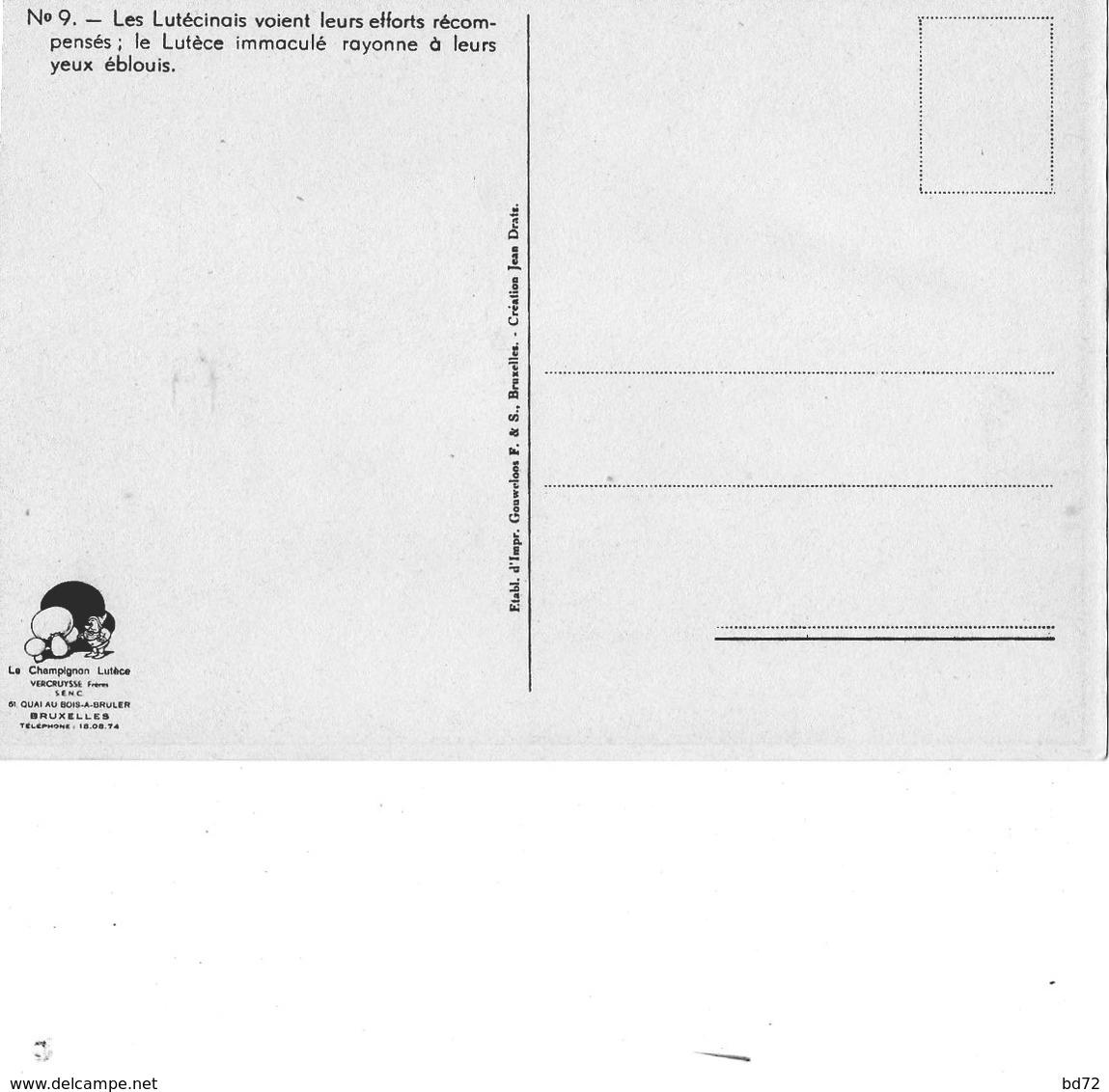 """"""" LE CHAMPIGNON LUTECE """" - Série De 12 Cartes - Publicité"""