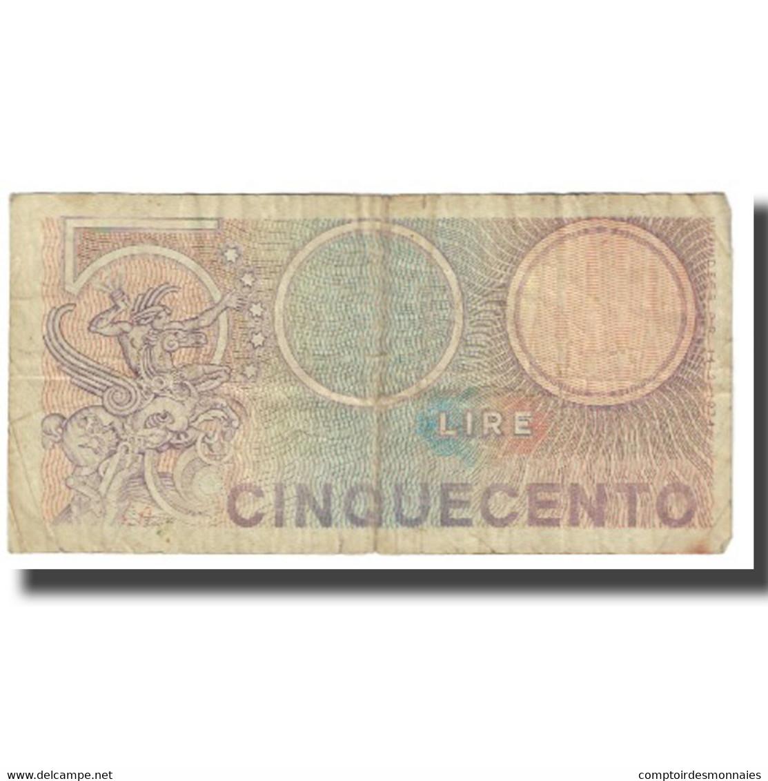 Billet, Italie, 500 Lire, KM:95, TB - Autres