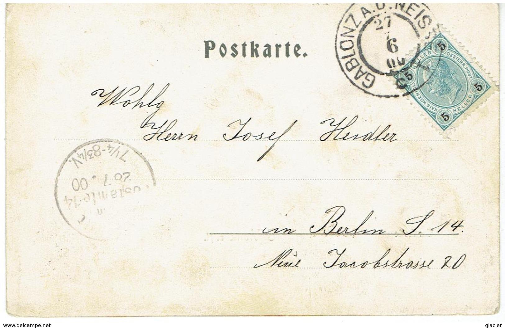 GABLONZ An Der Neiße  - Sudeten - Jablonec Nad Nisou - Turnhalle - Gesendet 1900 - Sudeten