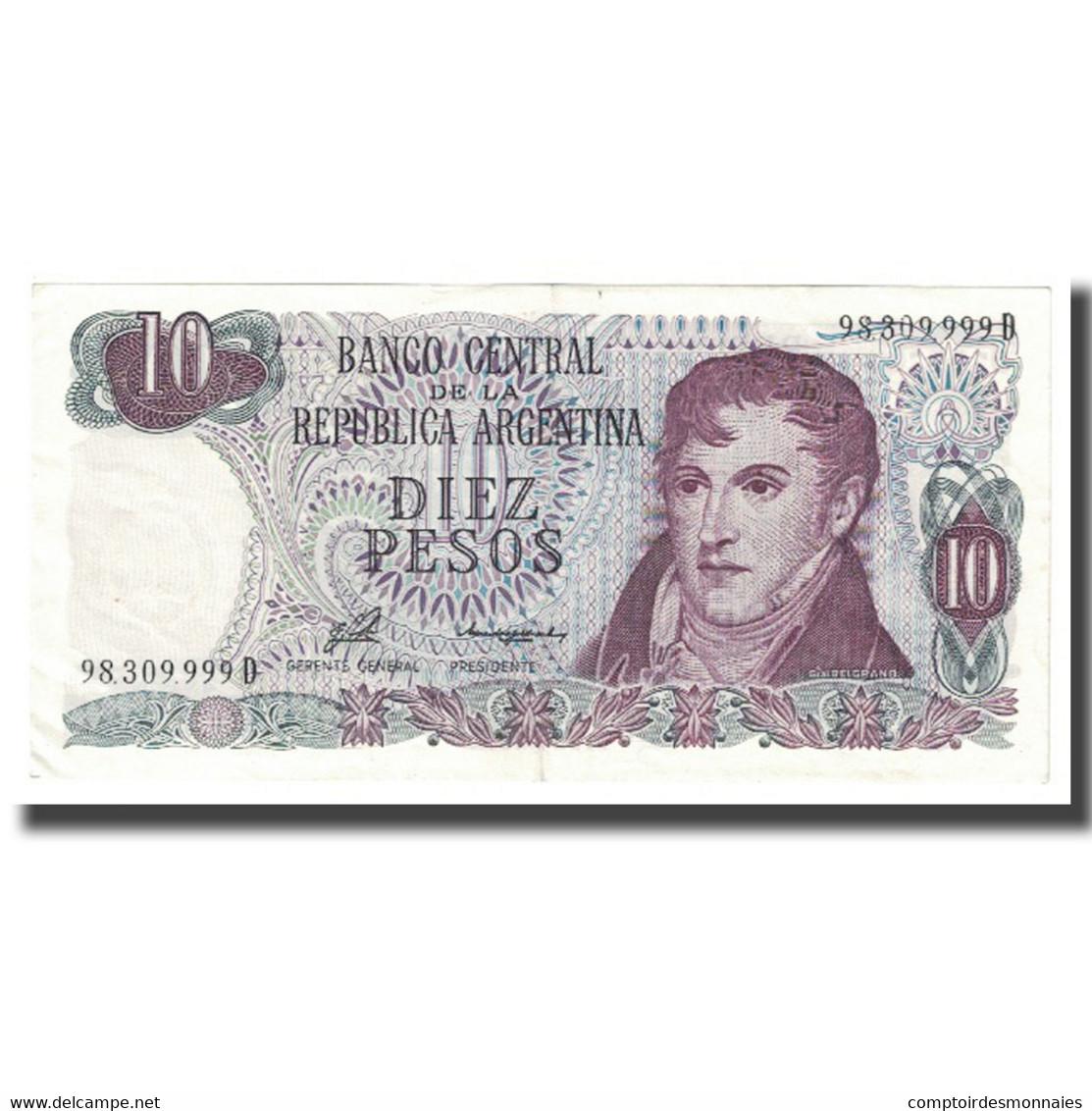 Billet, Argentine, 10 Pesos, KM:300, SPL - Argentine