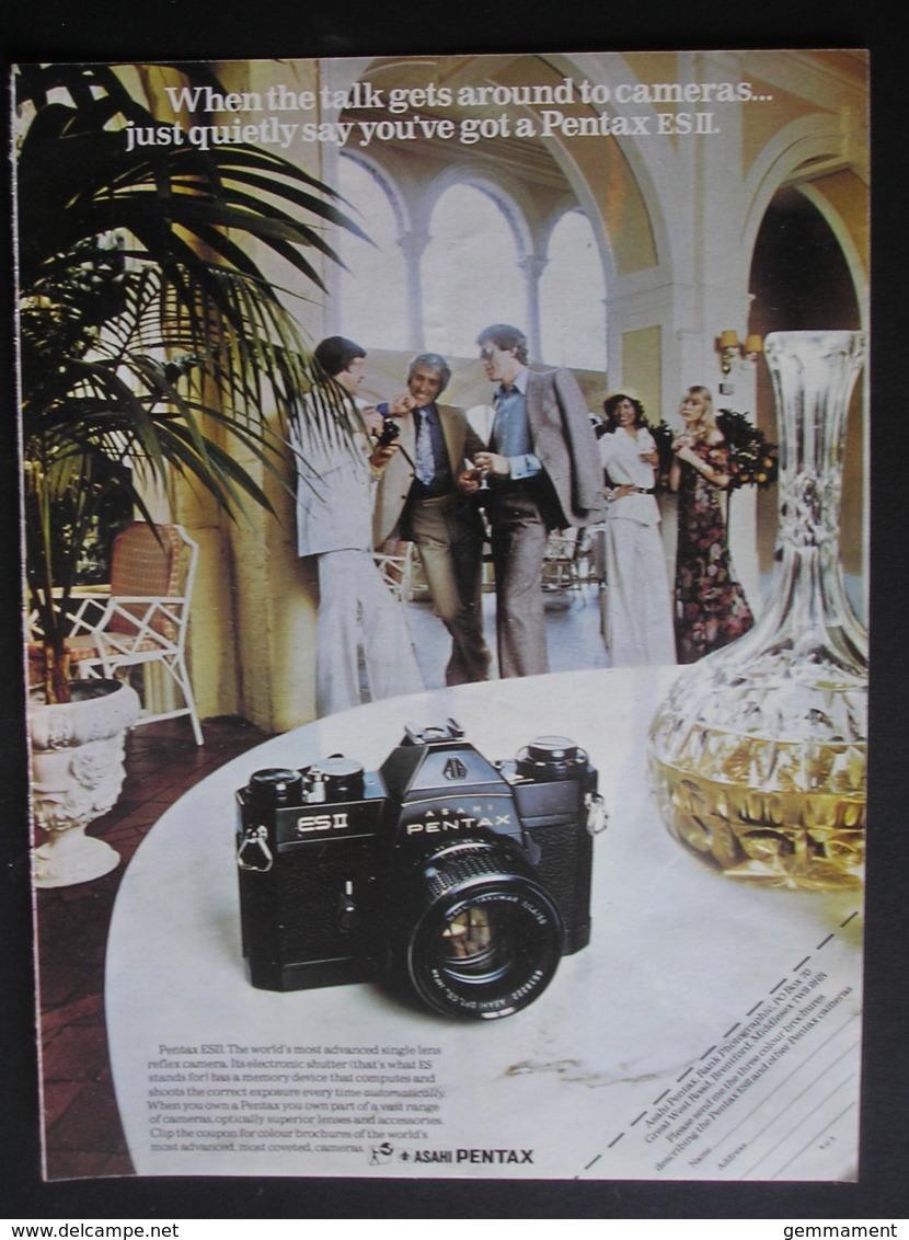 PENTAX ASAHI CAMERA. 1974 ORIGINAL MAGAZINE ADVERT - Advertising