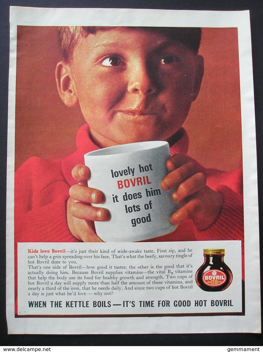 BOVRIL.   ORIGINAL 1965  MAGAZINE ADVERT - Advertising