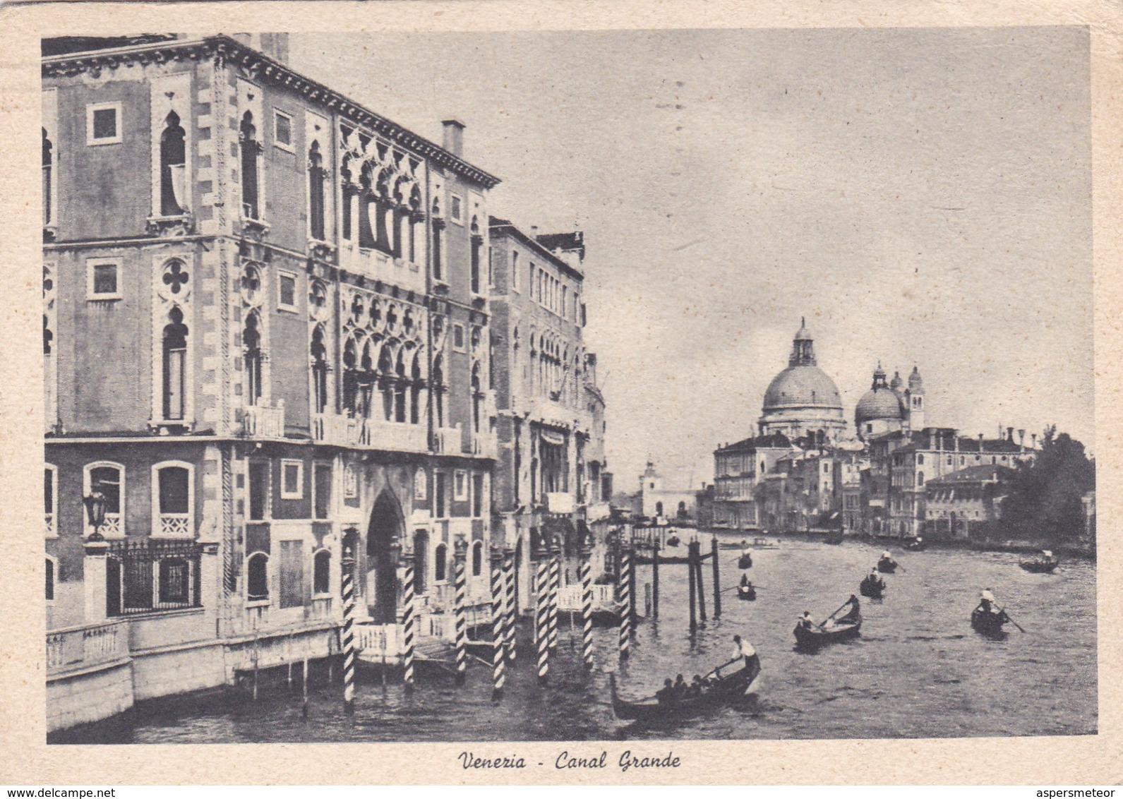 VENEZIA. CANAL GRANDE. CIRCULEE 1949 A BUENOS AIRES - BLEUP - Venezia (Venice)