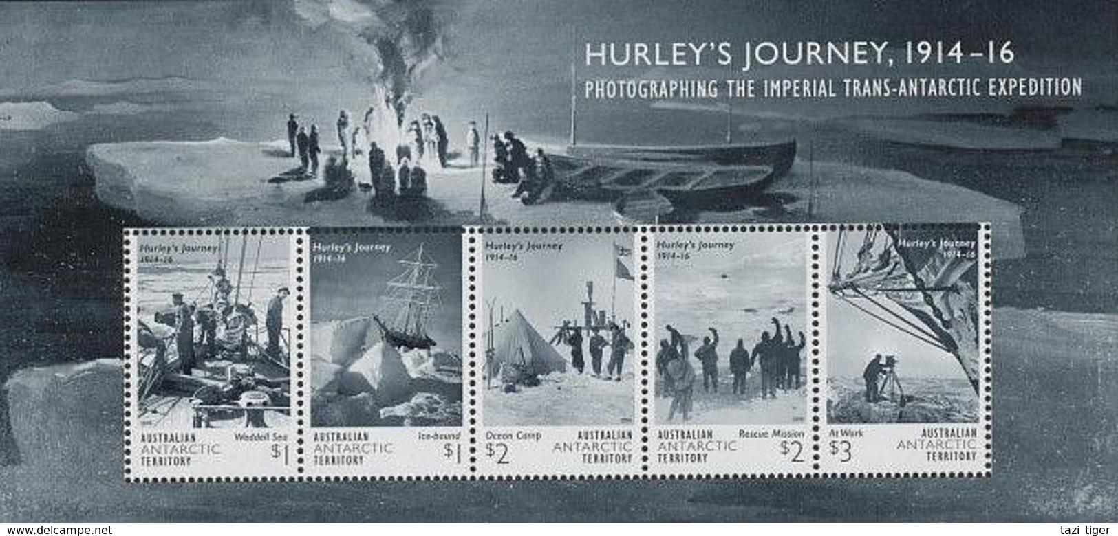 AUSTRALIAN ANTARCTIC TERRITORY (AAT) • 2016 • Hurley's Journey 1914-16 - Miniature Sheet • MNH (1) - Australian Antarctic Territory (AAT)