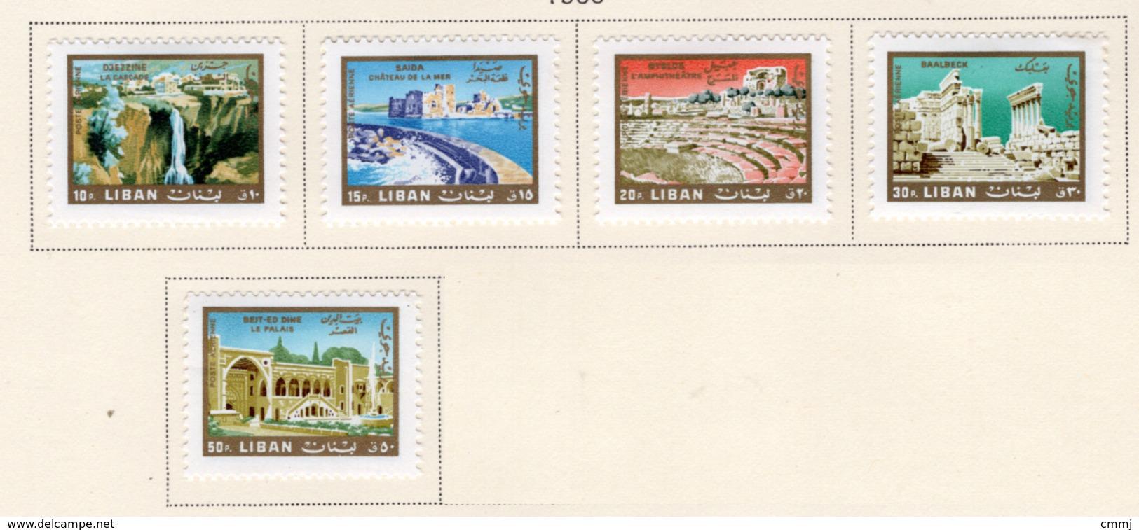 1966 - LIBANO - LEBANON - Mi. Nr.  968/972 - LH - (S03052019.....) - Libano