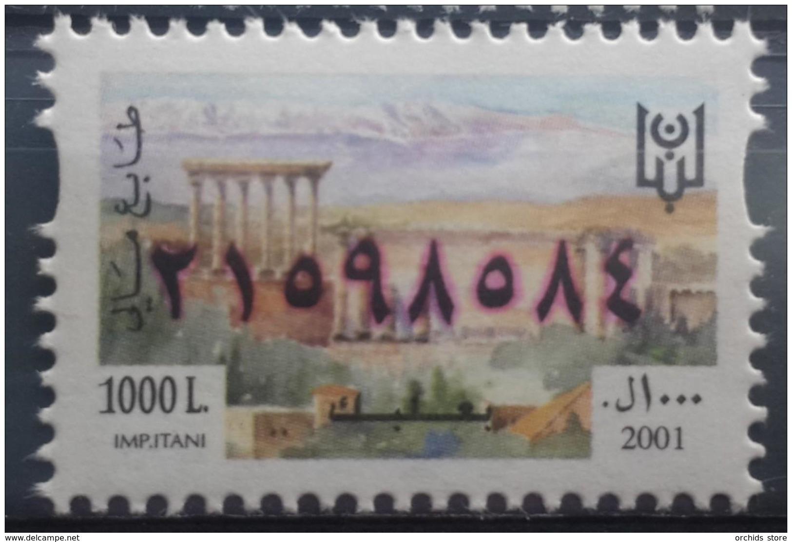 Lebanon 2001 Fiscal Revenue Stamp 1000 L - MNH - Baalbeck - Lebanon