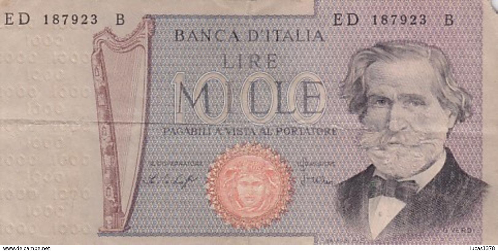 ITALIE 1000 LIRE VERDI 1969 / - 1000 Lire