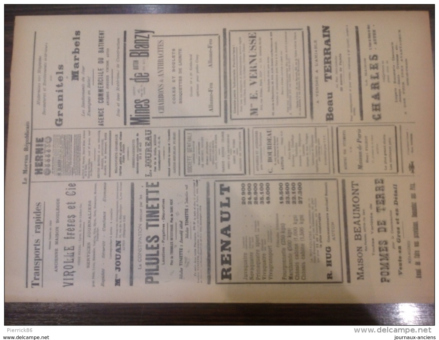 1939 Journal LE MORVAN RÉPUBLICAIN - AUTUN - SAÔNE ET LOIRE - VOITURE ROSENGART - FRONTIERE ESPAGNOL - CONSCRITS - Journaux - Quotidiens