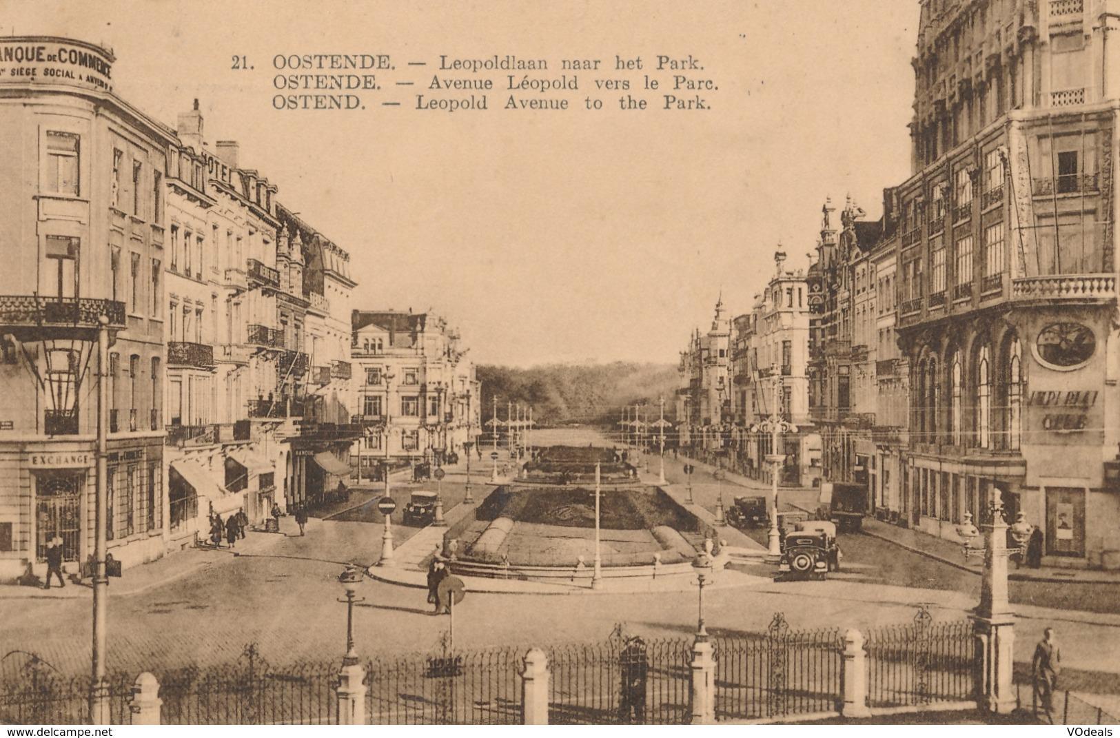 CPA - Belgique - Oostende - Ostende - Avenue Léopold Vers Le Parc - Oostende