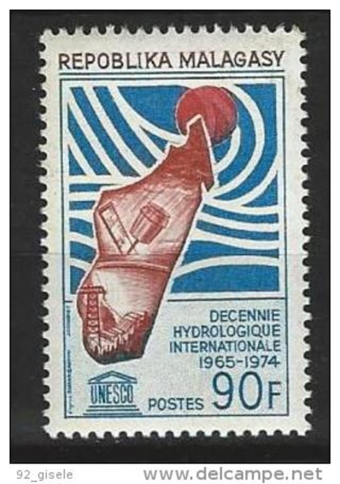 "Madagascar YT 442 "" Hydrologie "" 1967 Neuf** - Madagascar (1960-...)"