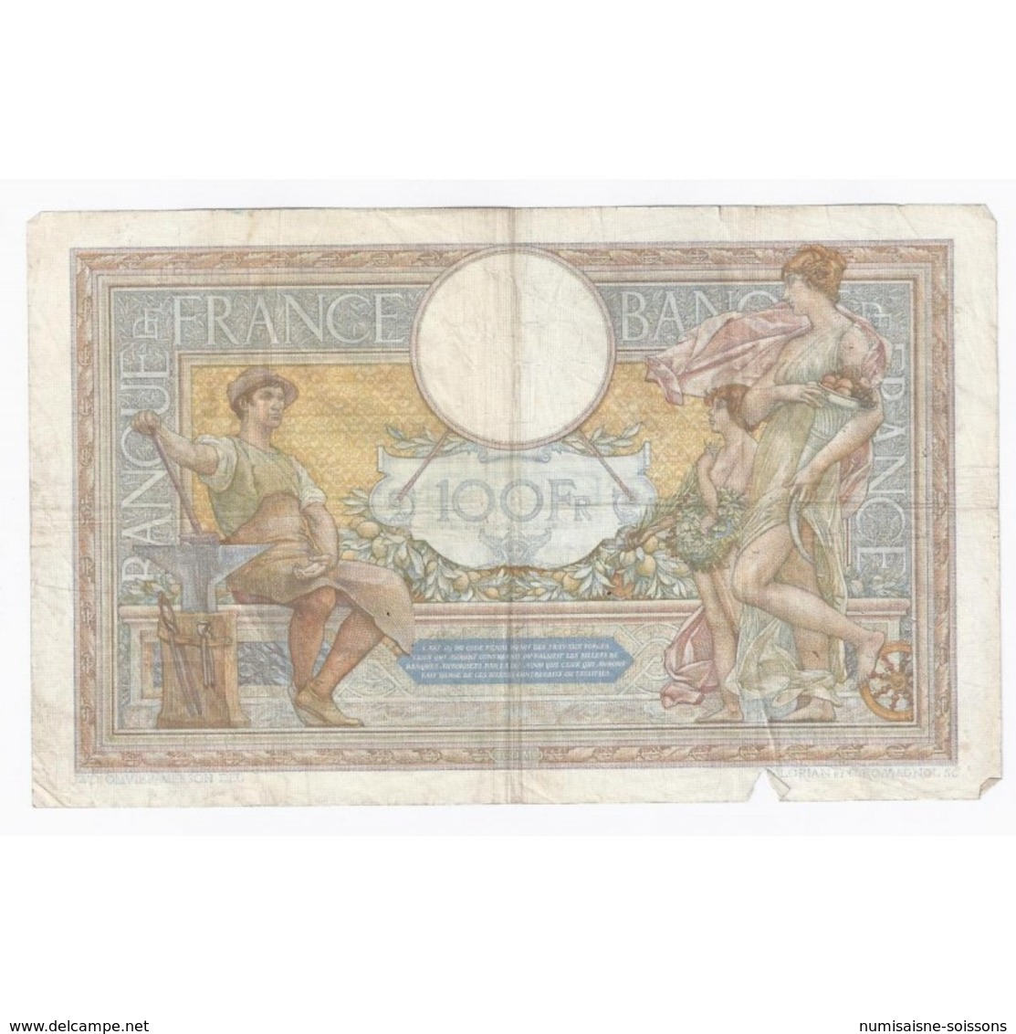FAY 24/16 - 100 FRANCS Luc Olivier MERSON - 1937 - TRES BEAU - PICK 78 - - 1871-1952 Circulated During XXth
