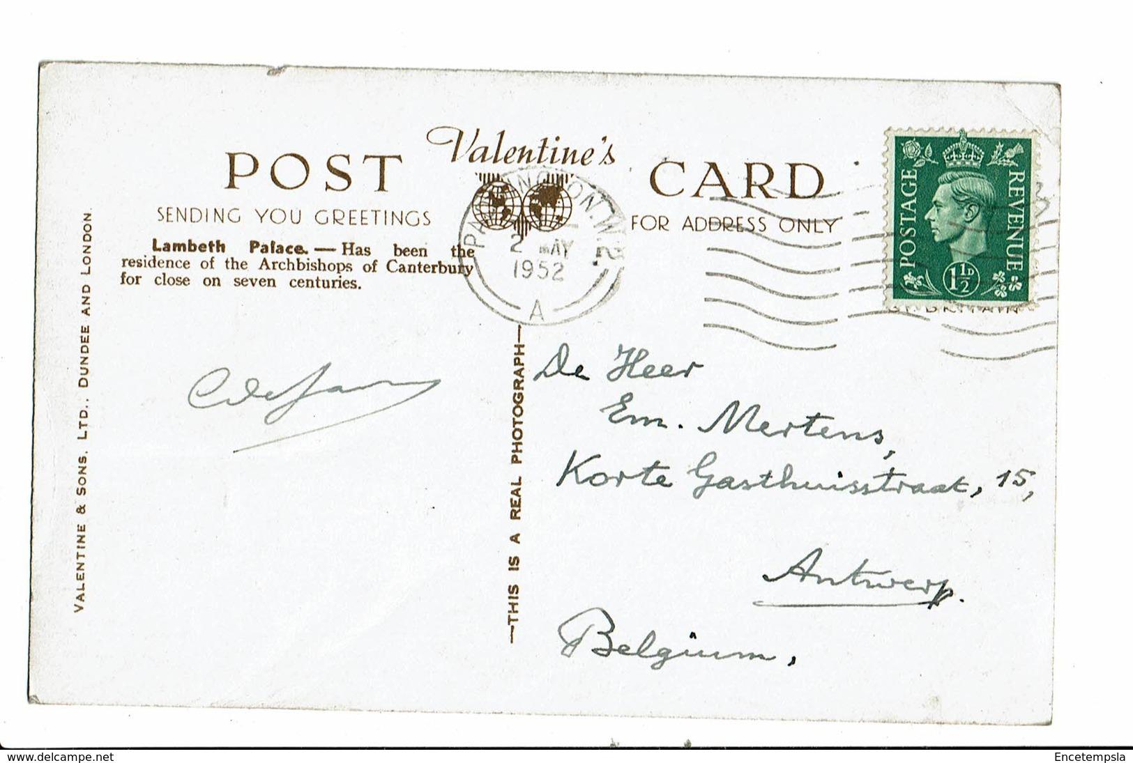CPA- Carte Postale Royaume Uni- London- Lambeth Palace -1952 - VM2824 - Other