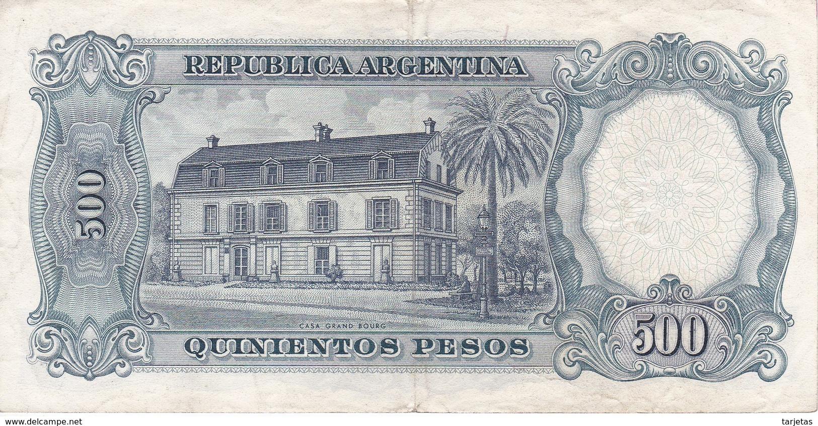 BILLETE DE ARGENTINA DE 500 PESOS AÑOS 1964 A 1969 EN CALIDAD EBC (XF)  (BANKNOTE) DIFERENTES FIRMAS - Argentina
