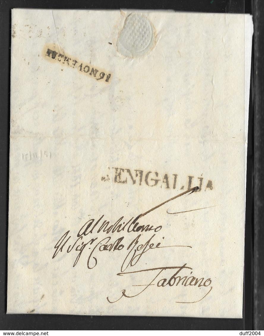 DA SENIGALLIA A FABRIANO - 15.9.1831. - 1. ...-1850 Prefilatelia