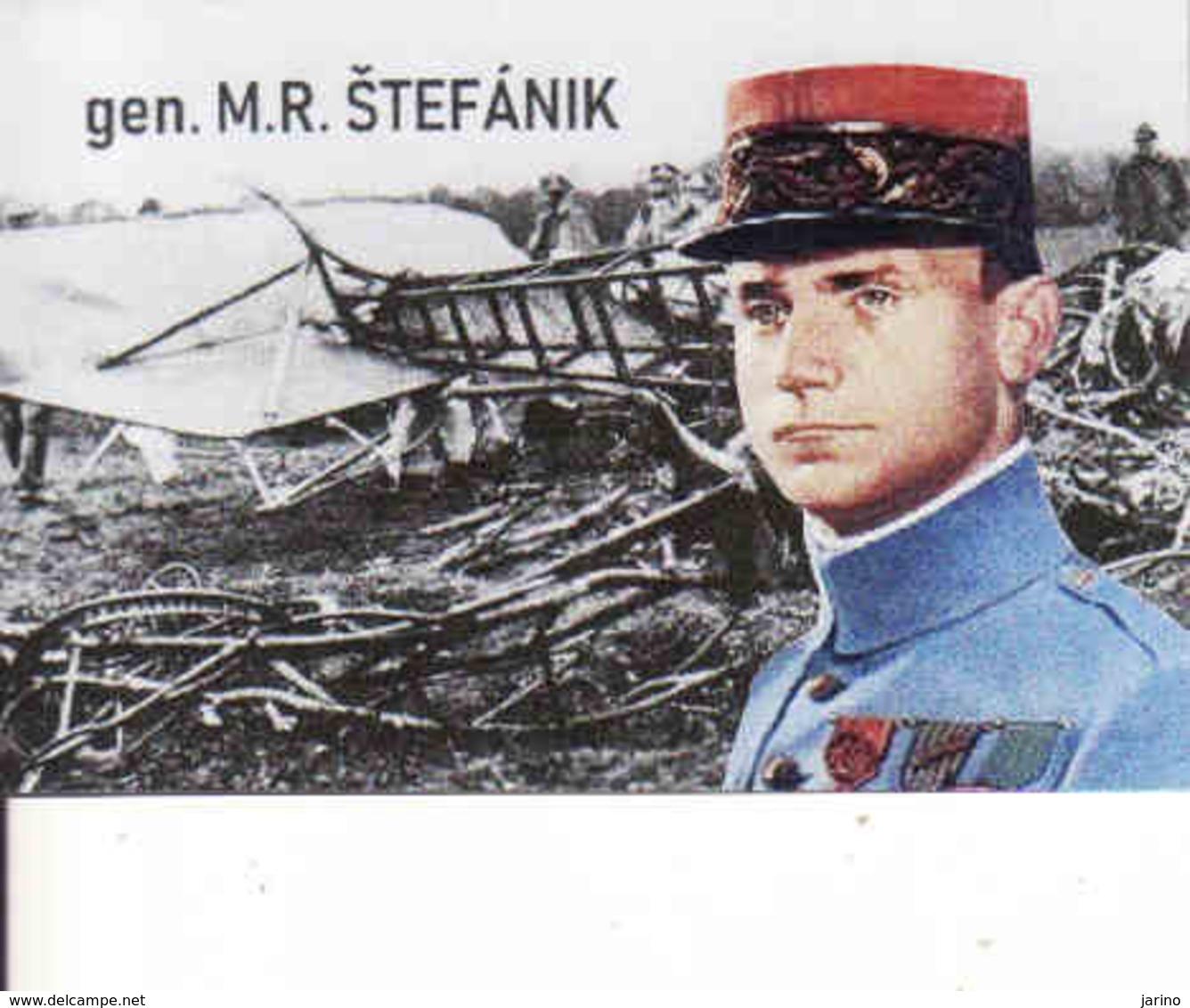 Magnet - Slovakia, General Milan Rastislav Štefánik + Airplane Caproni - Personnages