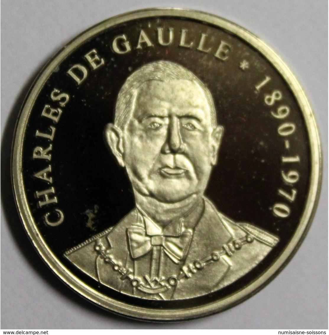 MEDAILLE - LES PRESIDENTS FRANCAIS - CHARLES DE GAULLE - 1890-1970 - BE - France