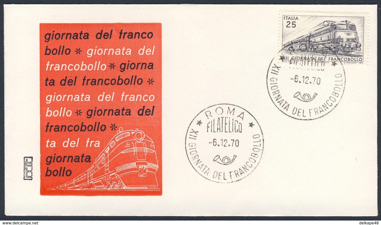 "Italy Italie Italia 1970 FDC + Mi 1327 YT 1065 SG 1275 - Electric Locomotive ""Tartaruga""/ Elek. Schnellfahrlok. BR 444 - Treinen"