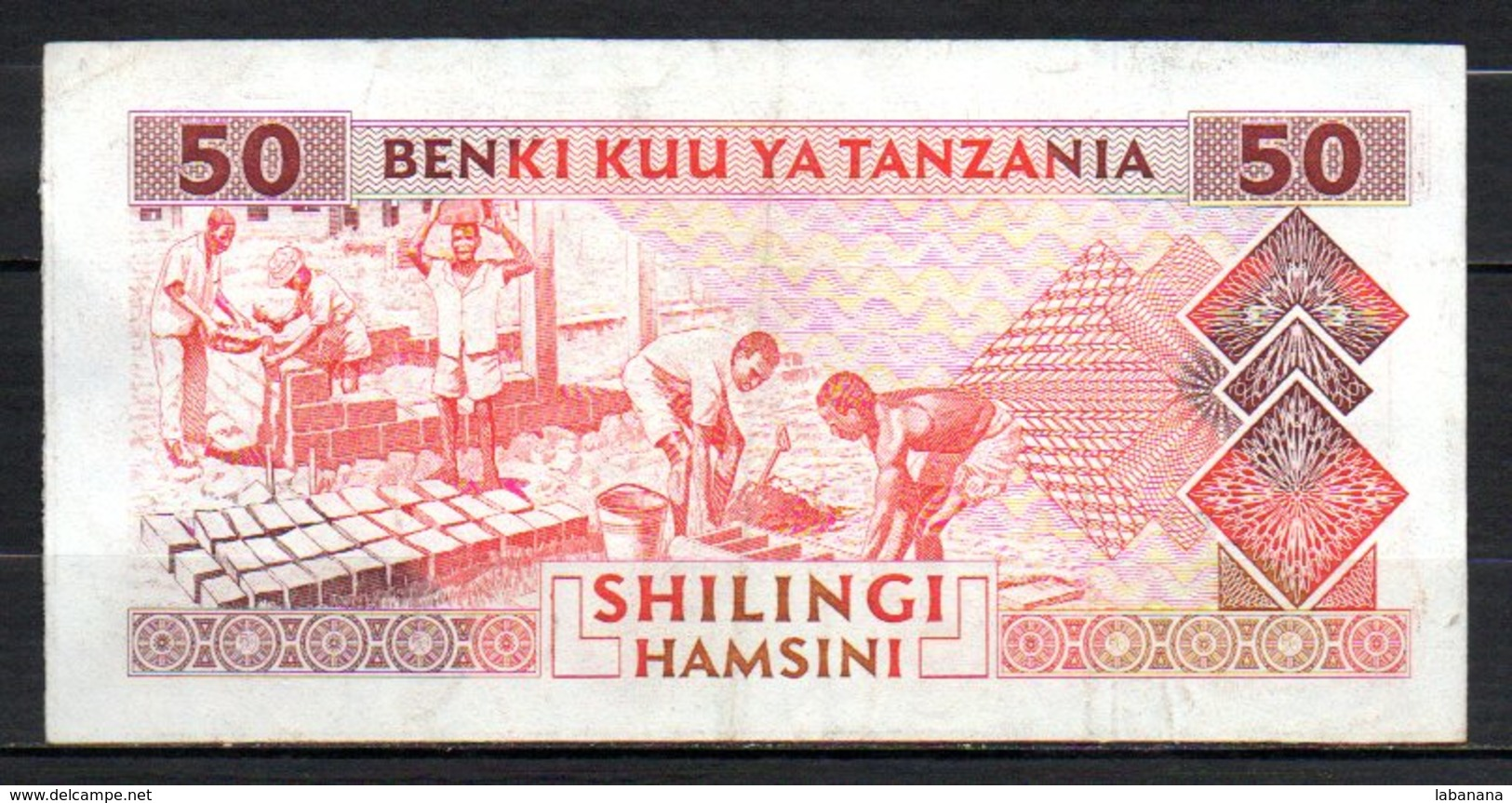 329-Tanzanie Billet De 50 Shillings 1993 EP415 - Tanzania