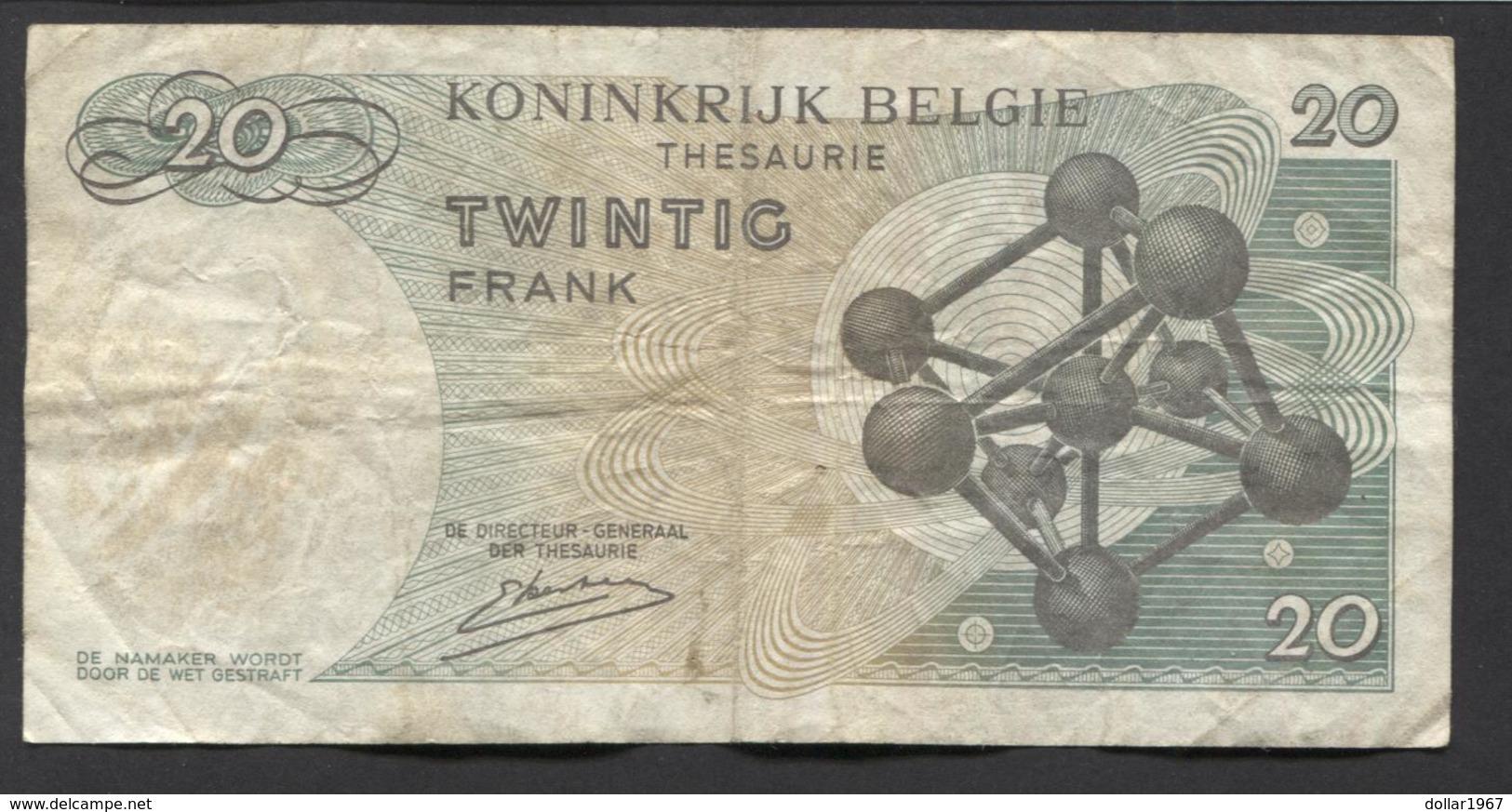 België Belgique Belgium 15 06 1964 -  20 Francs Atomium Baudouin. 3 R 0243163 - [ 6] Treasury
