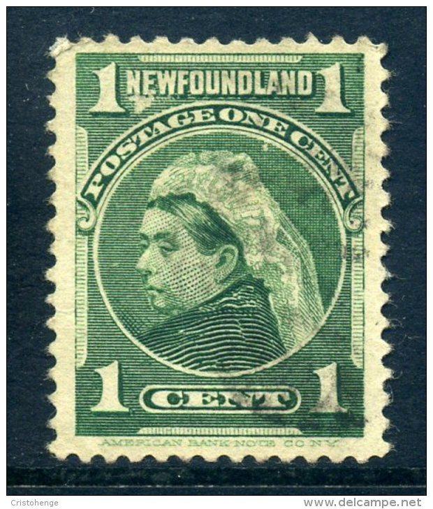 Newfoundland 1897-1918 Definitives - 1c Queen Victoria - Blue-green - Used (SG 85) - Newfoundland