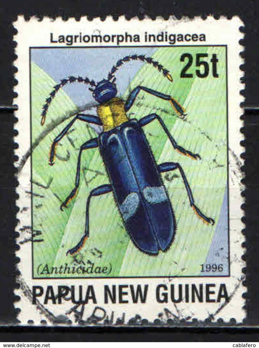 PAPUA NUOVA GUINEA - 1996 - Lagriomorpha Indigacea - USATO - Papua Nuova Guinea