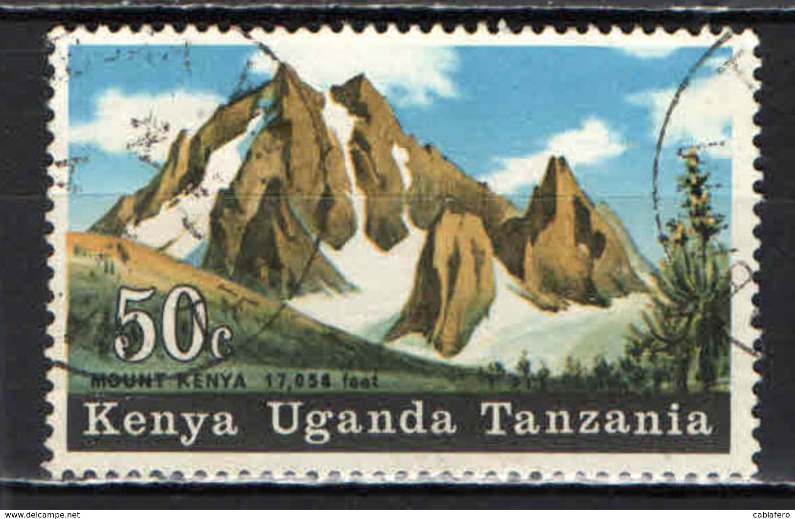 KENYA-UGANDA-TANZANIA - 1968 - MONTAGNA DELL'AFRICA - USATO - Tanzania (1964-...)