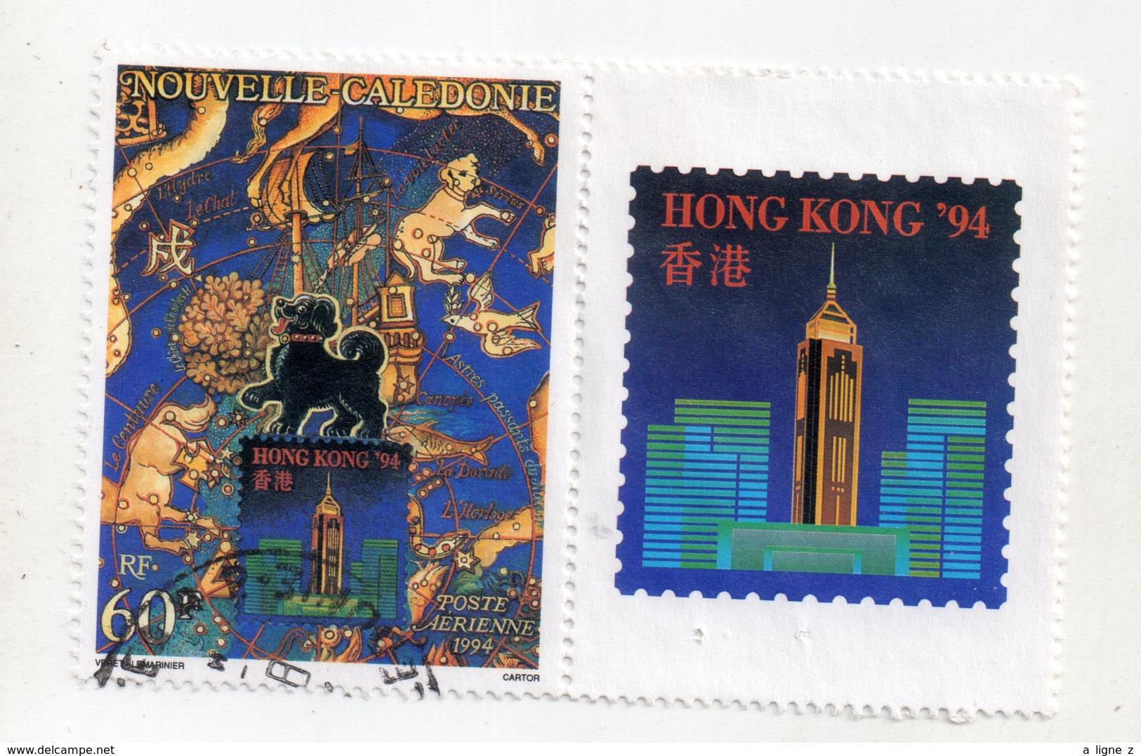 Env 1 : Nouvelle Caledonie Stamp Timbre Oblitéré Hong Kong 94 - Neukaledonien