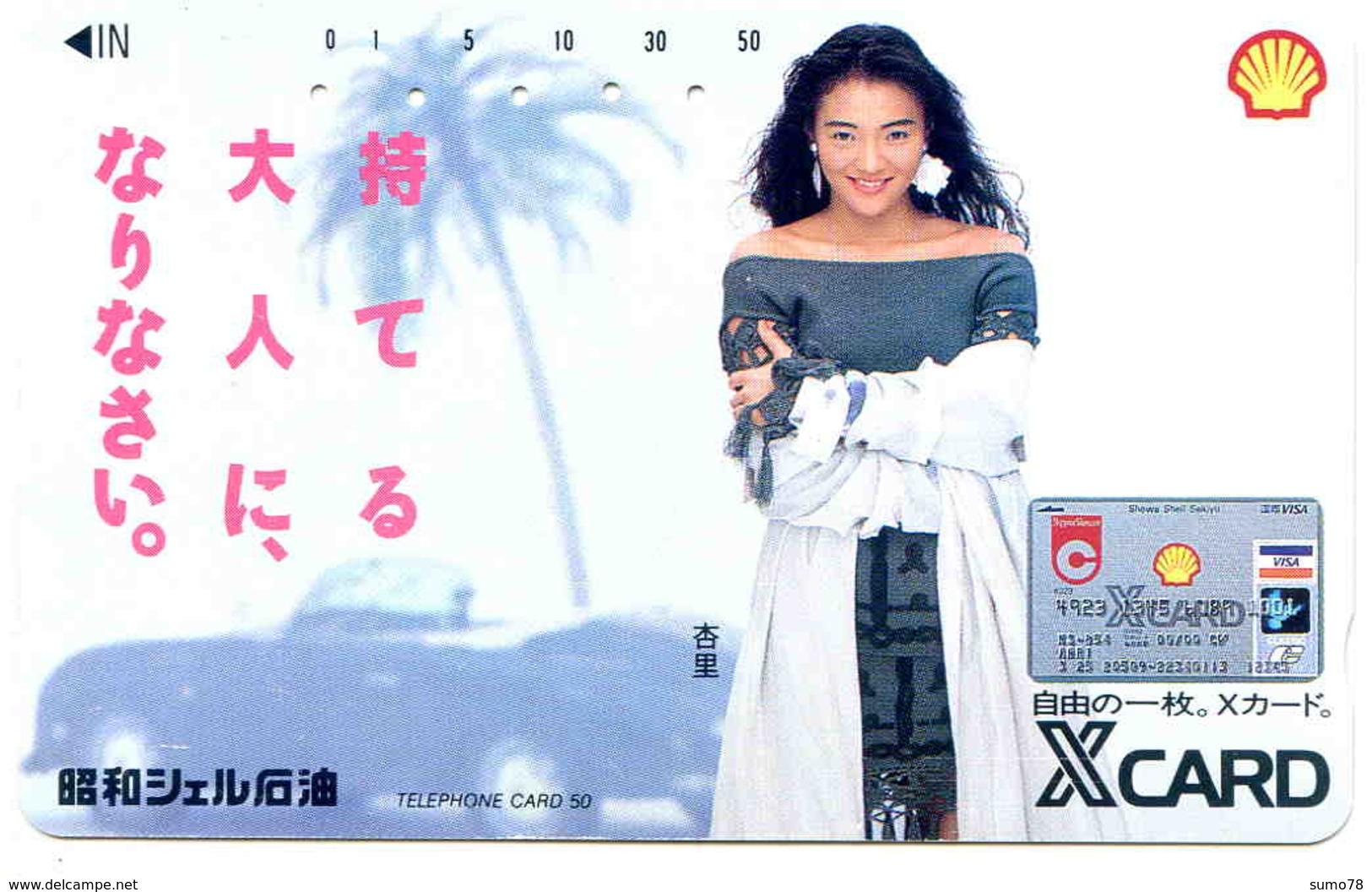 SHELL - XCARD - PETROLIER -TELECARTE JAPON  - VOITURE - AUTOMOBILE - CAR - Voitures