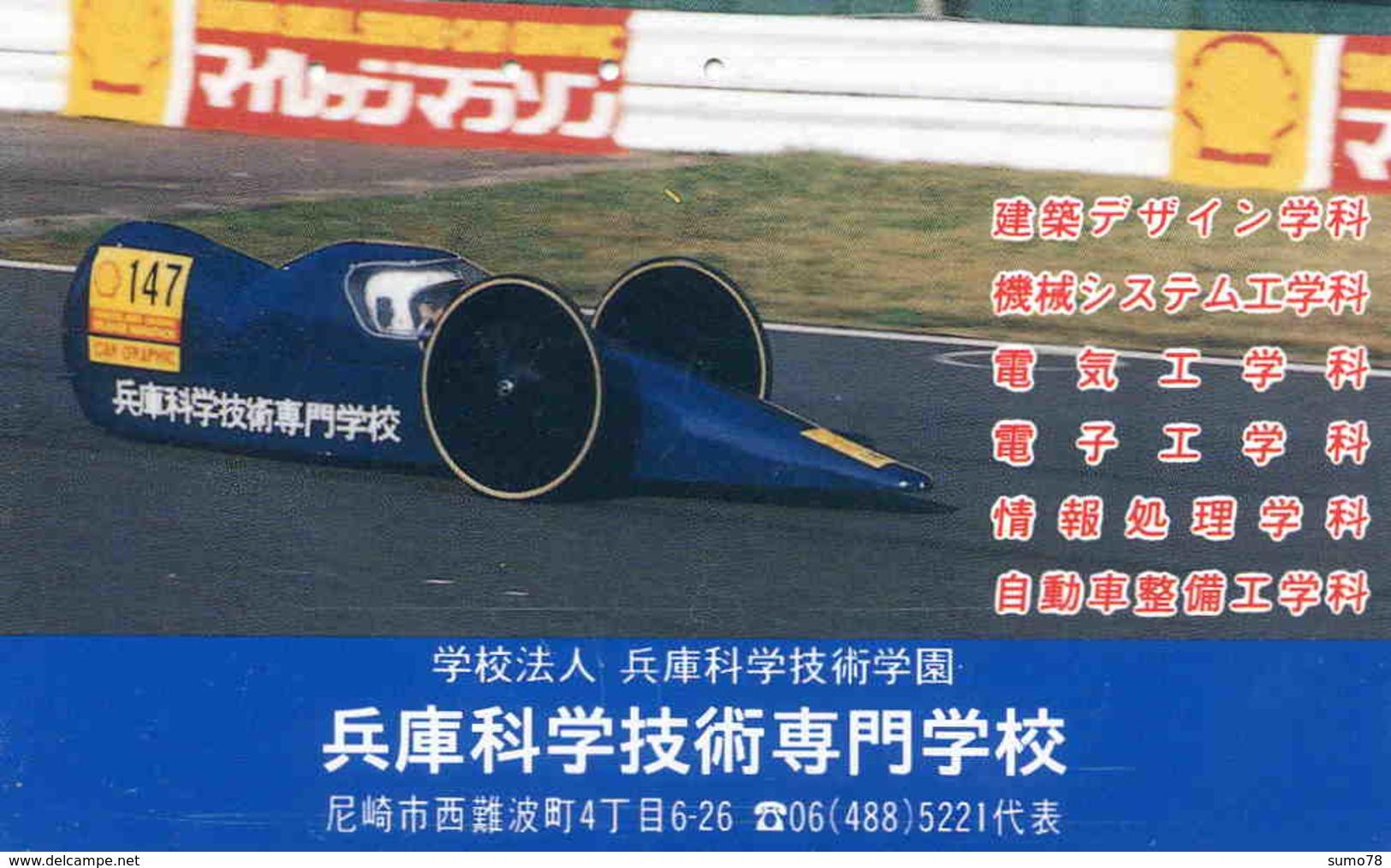 SHELL - PETROLIER -TELECARTE JAPON  - VOITURE - AUTOMOBILE - CAR - Cars