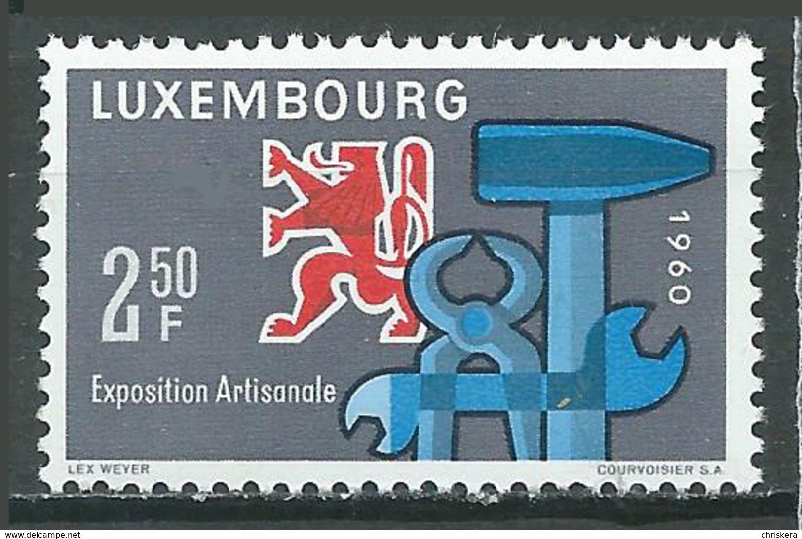 Luxembourg YT N°580 Exposition Artisanale Neuf ** - Luxemburg