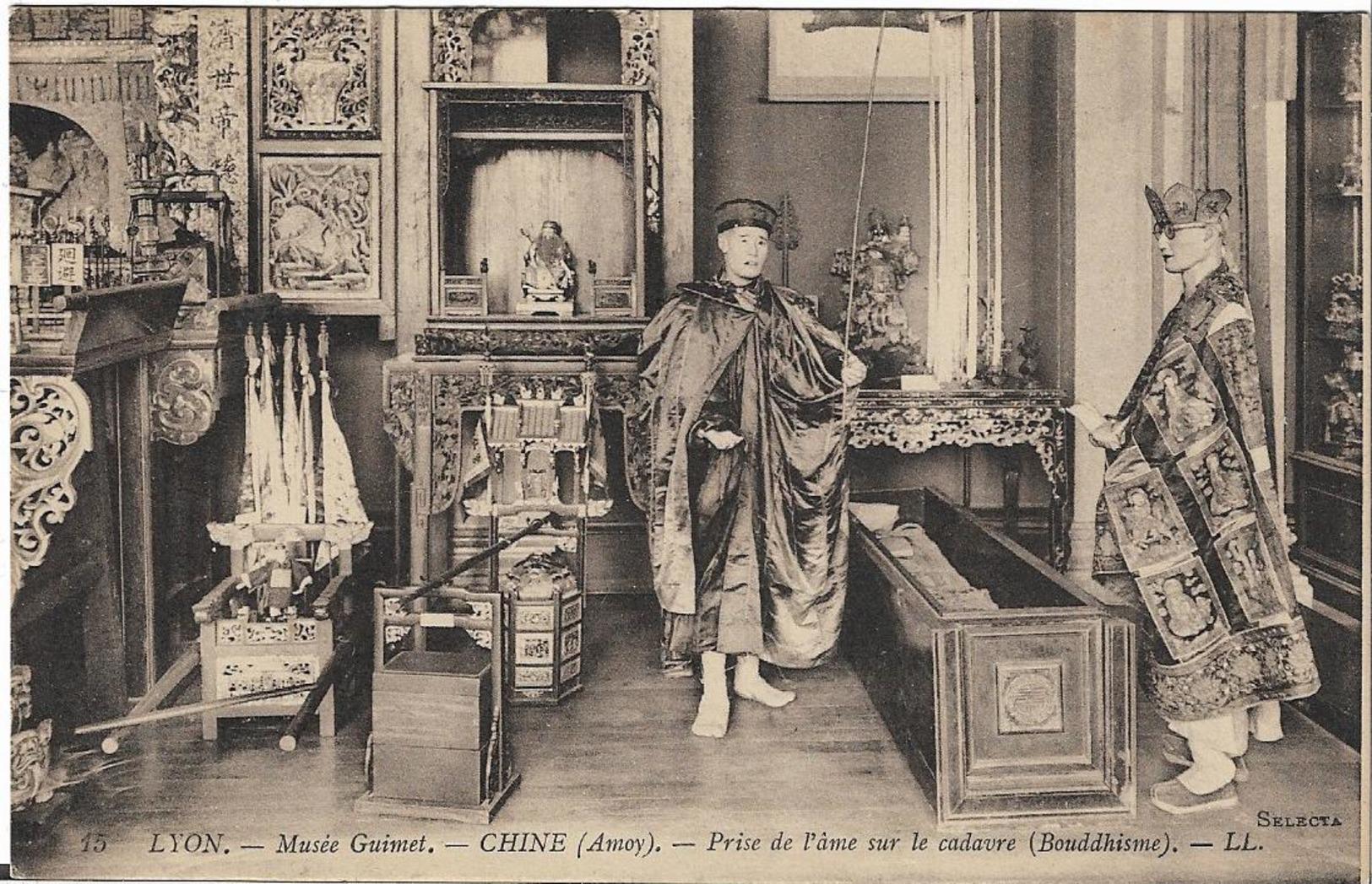 INTROUVABLE Carte Postal CPA Lyon - Musée Guimet - CHINE (amoy) - Prise De L'âme Sur Le Cadavre (Bouddhisme) - LL. - Lyon