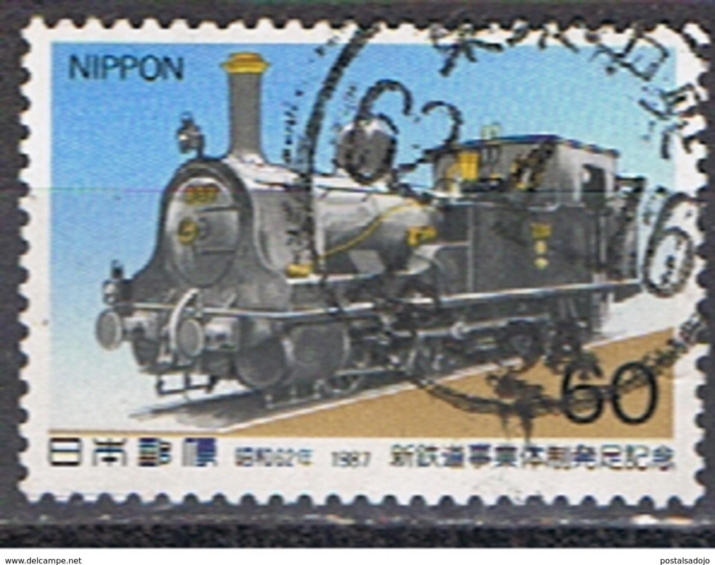 JAPON 137 // MI 1732 //  RAILWAYS // 1987 - 1926-89 Emperor Hirohito (Showa Era)