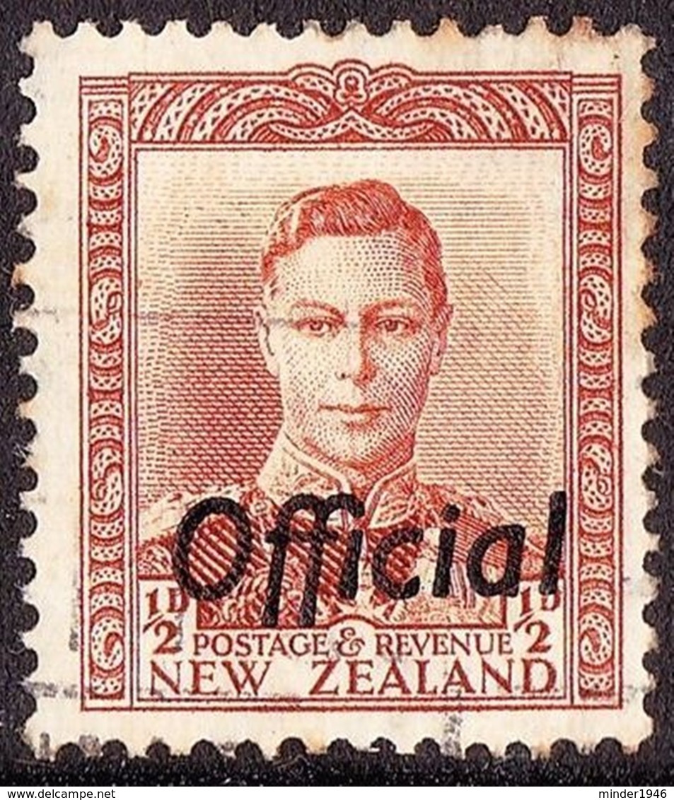 """NEW ZEALAND 1946 KGVI 1/2d Orange-Brown """"Official"""" SGO135 Used - 1907-1947 Dominion"""