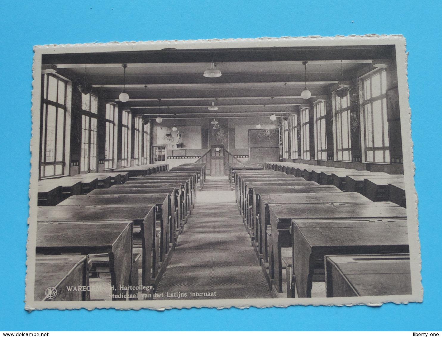 H. Hartcollege - Studiezaal Van Het Latijns Internaat ( Thill ) Anno 19?? ( Zie/voir Photo ) ! - Waregem