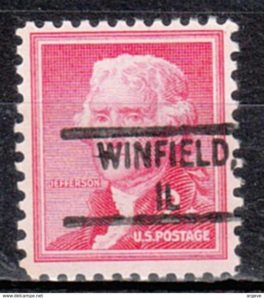USA Precancel Vorausentwertung Preo, Locals Illinois, Winfield 828 - Vereinigte Staaten