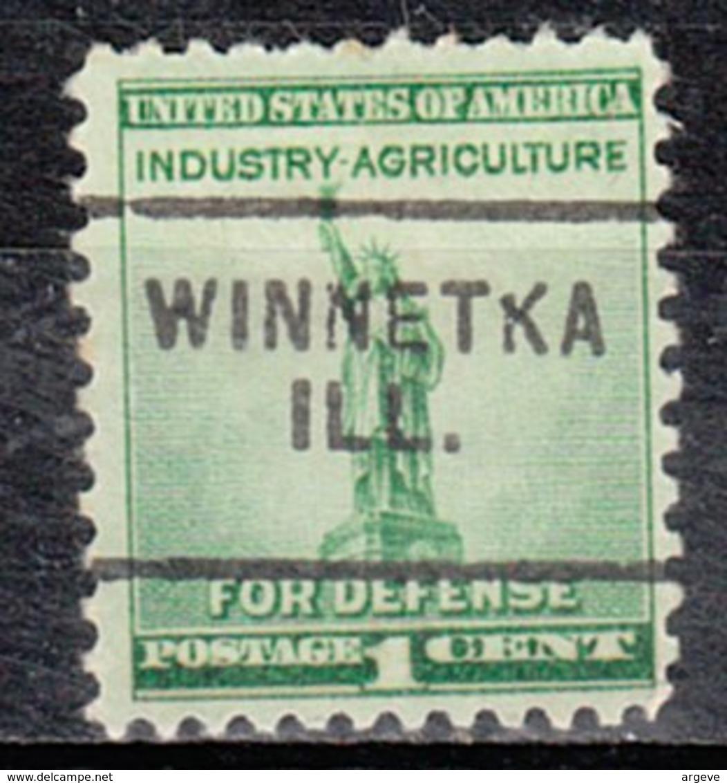 USA Precancel Vorausentwertung Preo, Locals Illinois, Winnetka 703 - Vereinigte Staaten