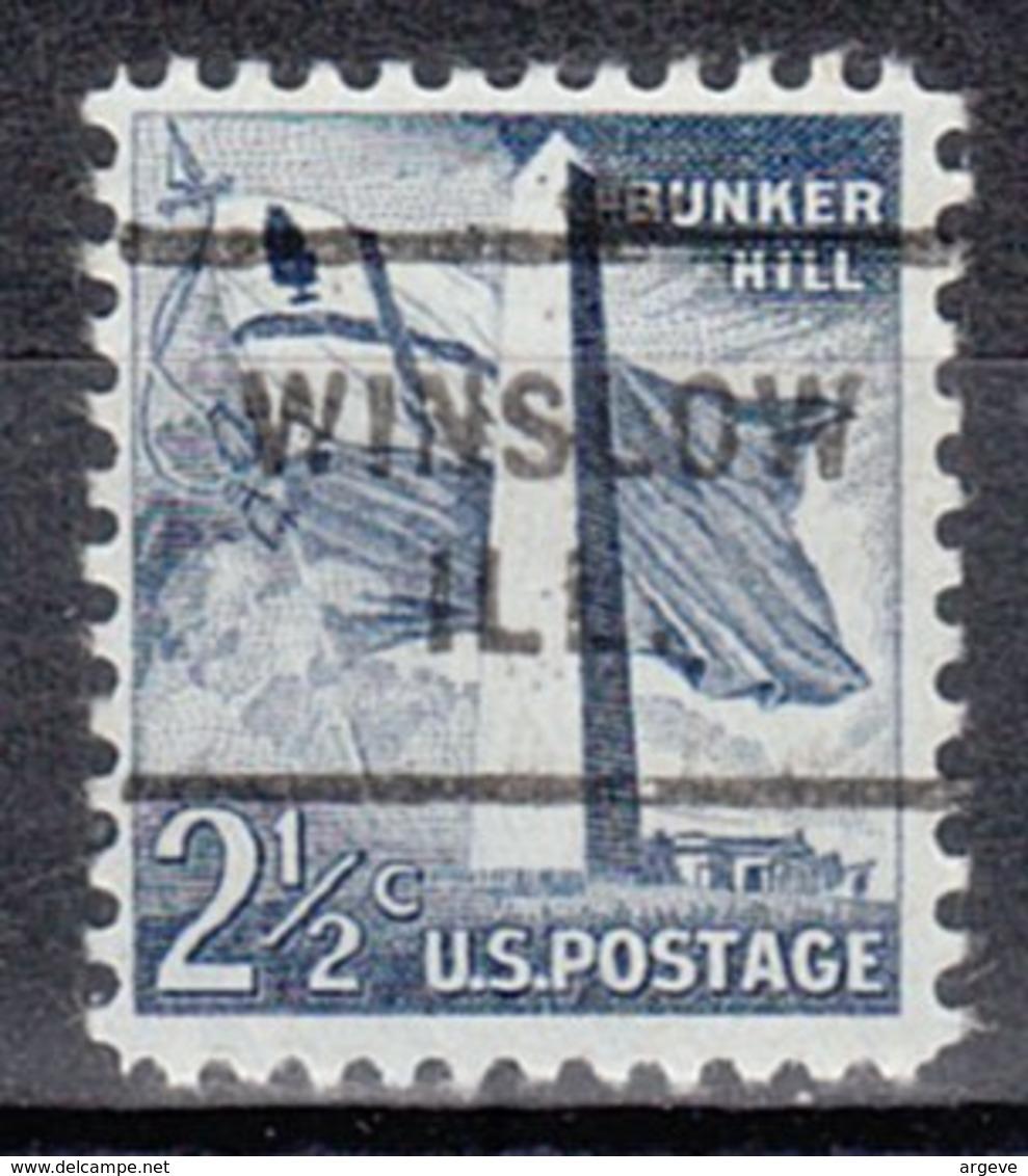 USA Precancel Vorausentwertung Preo, Locals Illinois, Winslow 712 - Vorausentwertungen
