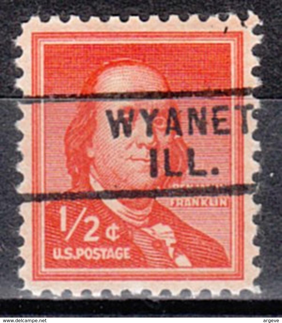 USA Precancel Vorausentwertung Preo, Locals Illinois, Wyanet 729 - Vorausentwertungen