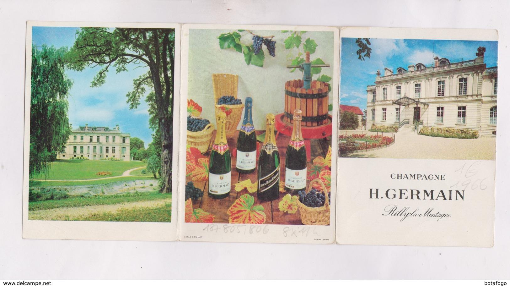 PETIT CALENDRIER  1965 (en 3 Volets)  CHAMPAGNE H. GERMAIN - Petit Format : 1961-70